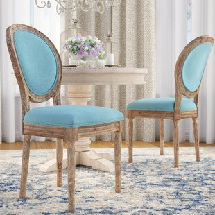 Patel Round Back Upholstered Dining Chair (Set of 2) One Allium Way