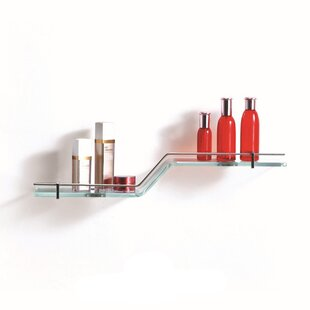 Fab Glass and Mirror Glass Wall Shelf