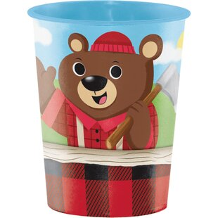 Lum-Bear Jack Keepsake Plastic Disposable Cup (Set of 8)