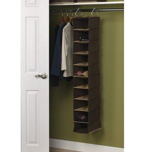Household Essentials 10-Compartment 10 Pair Hanging Shoe Organizer