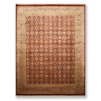 Bloomsbury Market One Of A Kind Eloisa Hand Knotted 4 10 X 7 Wool Red Beige Area Rug Wayfair