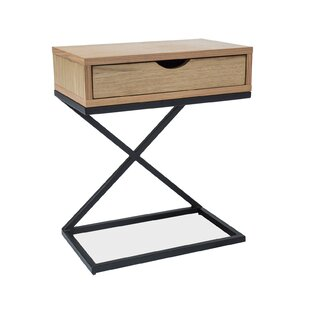 Dunkel Side Table With Storage By Mercury Row