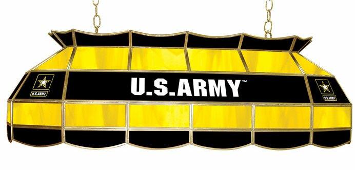 U.S. Army 3-Light Tiffany Billiard Light
