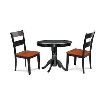 Cedarville Elegant 3 Piece Solid Wood Dining Set