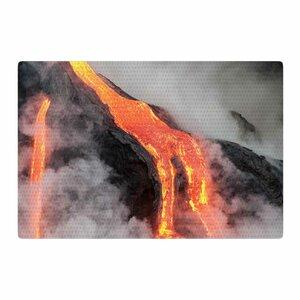 Hawaiian Lava Orange/Red Area Rug