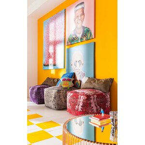 Hocker Kelim Pop von KARE Design