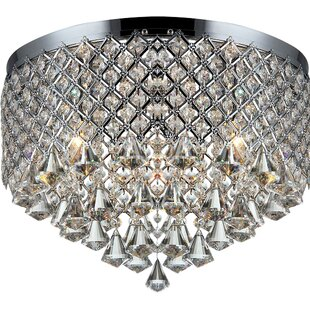 Bargain 3-Light Flush Mount By Warehouse of Tiffany