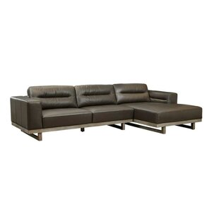 17 Stories Innocenzio Leather Sectional