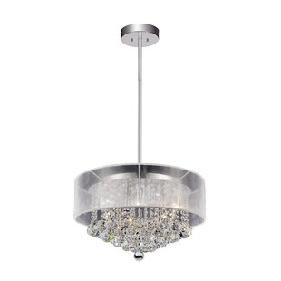 9-Light Drum Chandelier by CWI Lighting