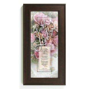 Faith Hope Love Framed Graphic Art  sc 1 st  Wayfair & Faith Hope Love Wall Art | Wayfair