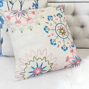 Aquinnah Embroidered Whimsical Throw Pillow