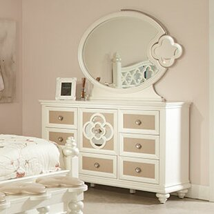 Paris 7 Drawer Combo Dresser with Mirror