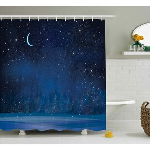 Luke Winter Season Night Single Shower Curtain