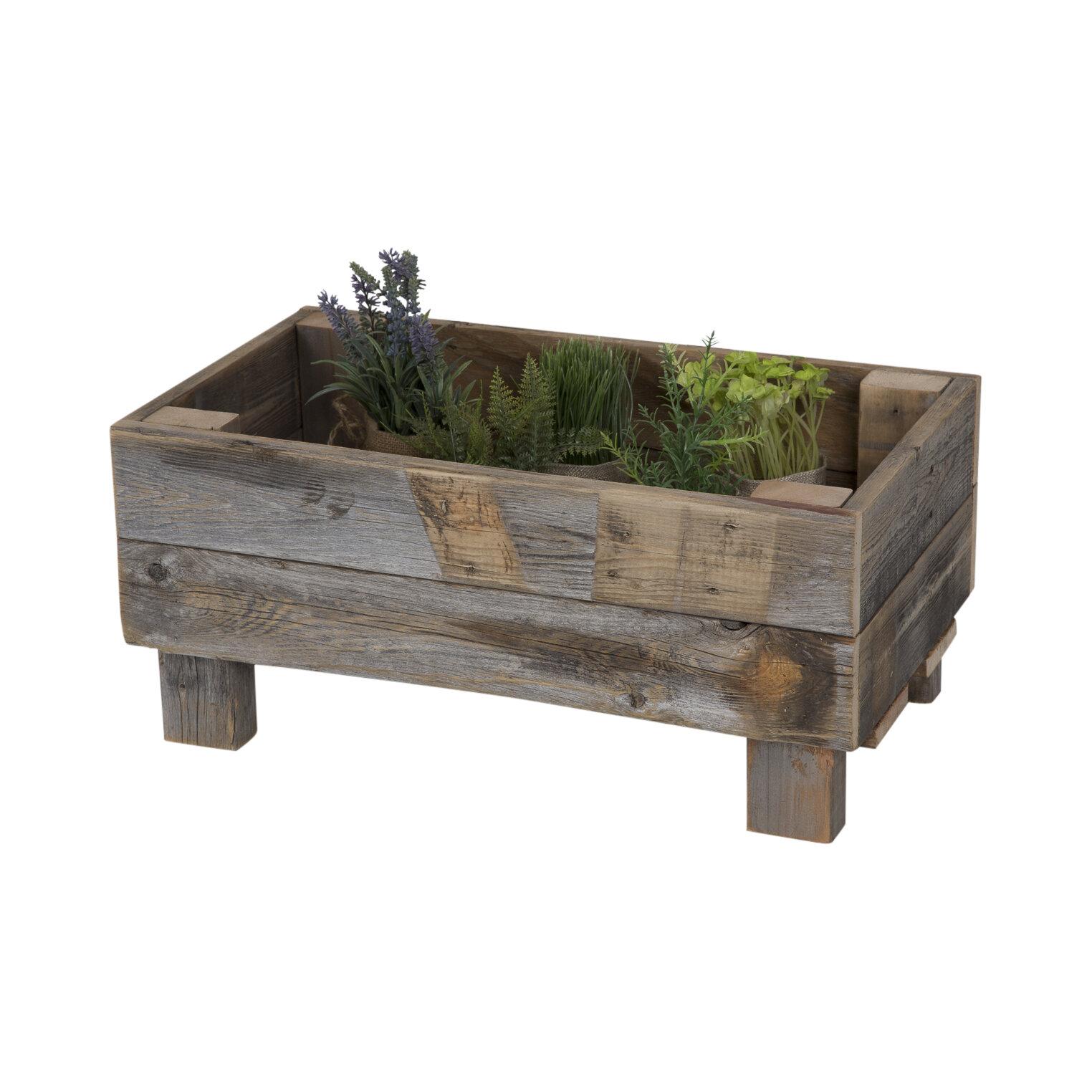 DelHutsonDesigns Reclaimed Wood Planter Box u0026