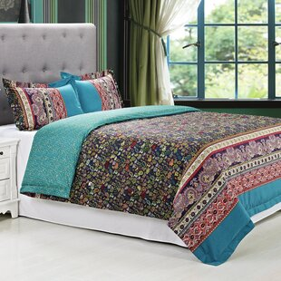 Rosewood 3 Piece 100% Egyptian-Quality Cotton Reversible Duvet Cover Set