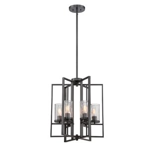 Kuhle 6-Light Geometric Chandelier by Union Rustic