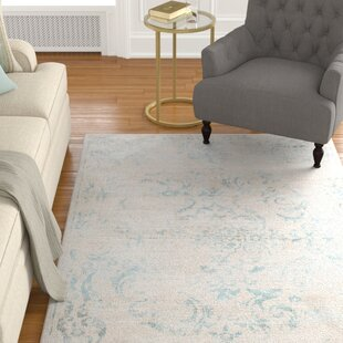 Affordable Cary Blue/White Area Rug By Charlton Home
