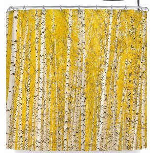 Susan Sanders Birch Trees Single Shower Curtain