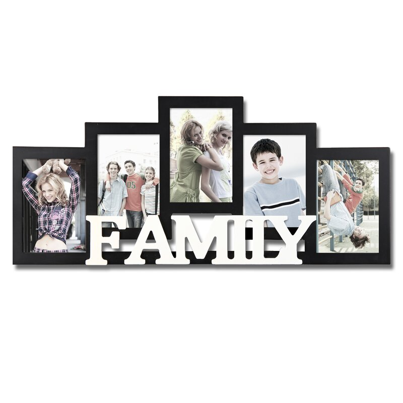 AdecoTrading 5 Opening Wooden Photo Collage Wall Hanging Picture ...