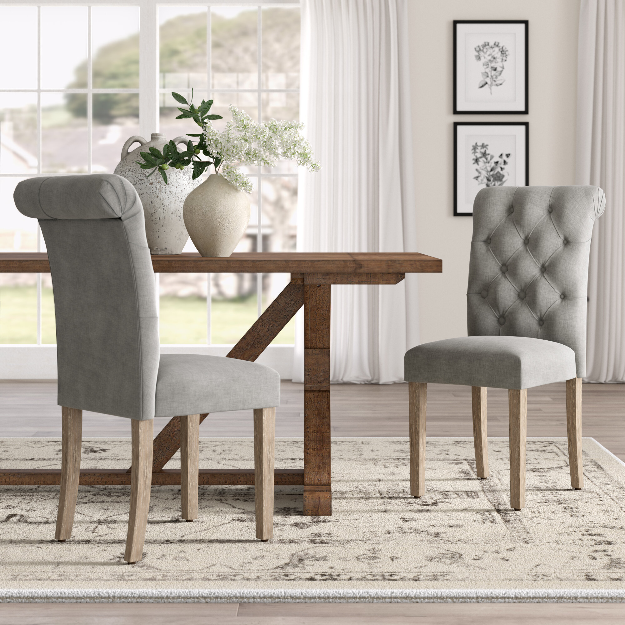 Country Cottage Dining Chairs You Ll Love Wayfair