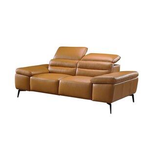 Orren Ellis Kean Leather Loveseat