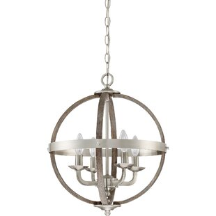 Gracie Oaks Burrill 4-Light Pendant