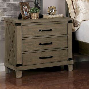 Gracie Oaks Rea 3 Drawer Nightstand