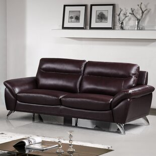 Richman Leather Loveseat (Set Of 3) by Orren Ellis Today Sale Only