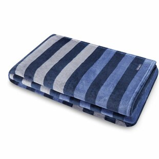 Sandy Spring Stripe Ultra Soft Plush Fleece Throw by Nautica Great price