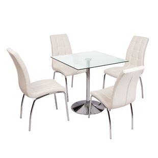 Sheelah Dining Set With 4 Chairs By Metro Lane