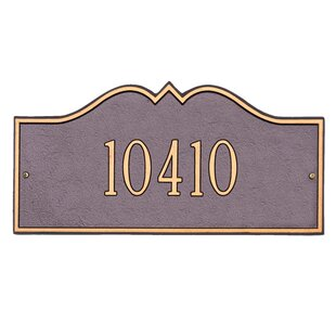 Hillsboro 1-Line Wall Address Plaque by Whitehall Products