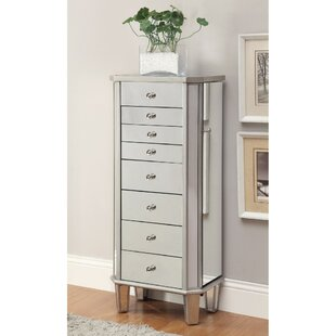 Rosdorf Park Leppert Contemporary Style Jewelry Armoire