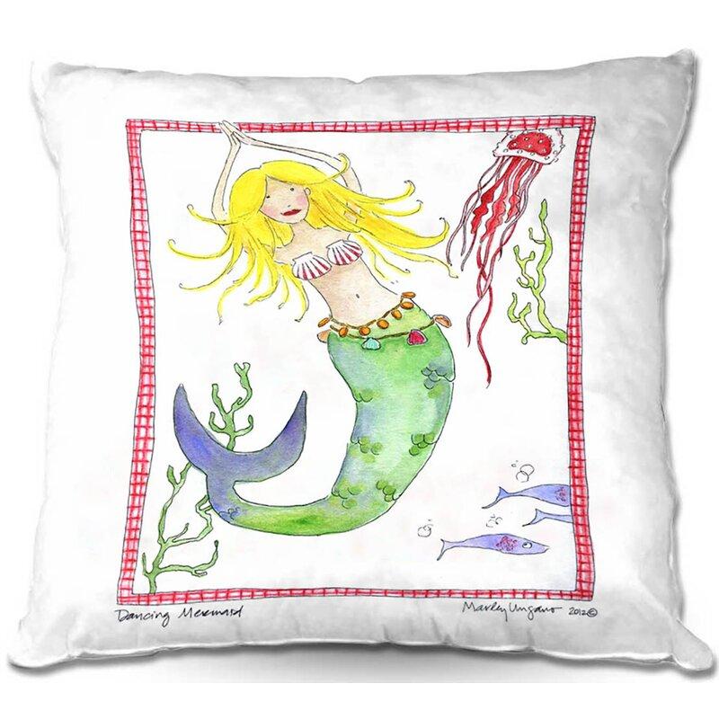 Harriet Bee Rolande Couch Dancing Mermaid Square Throw Pillow Wayfair