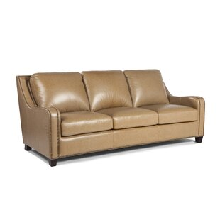 Howa Leather Sofa by Darby Home Co