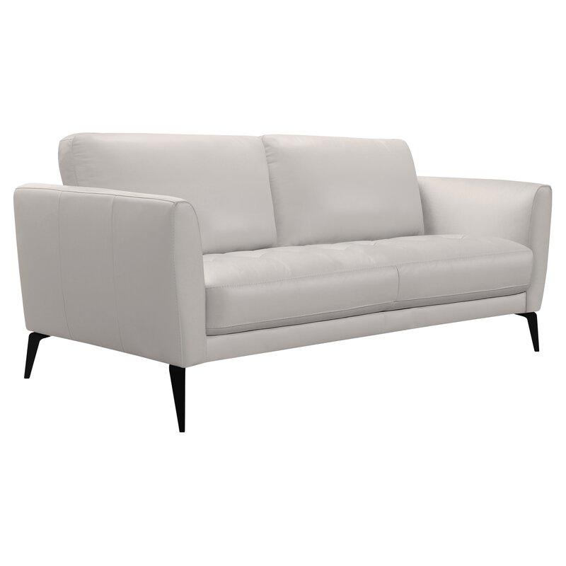 Orren Ellis Rankins Contemporary Leather Sofa | Wayfair