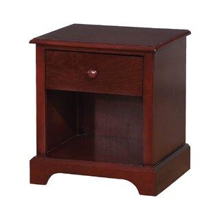 Augustin Wooden 1 Drawer Nightstand