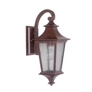 Compare prices Chafin 1-Light Outdoor Wall Lantern By Fleur De Lis Living