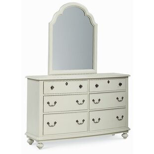 Affordable Inspirations by Wendy Bellissimo 6 Drawer Double Dresser with Mirror by LC Kids Reviews (2019) & Buyer's Guide
