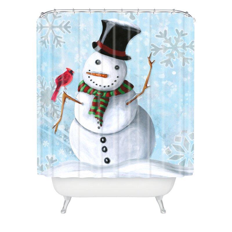 Winter Cheer Shower Curtain from Wayfair!