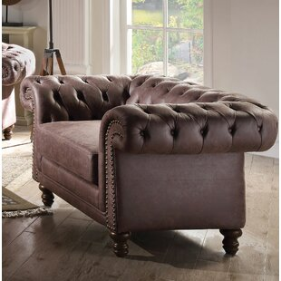 Oconnell Chesterfield Chair by Canora Grey