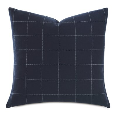 Barclay Butera Windowpane Cotton Throw Pillow Eastern Accents