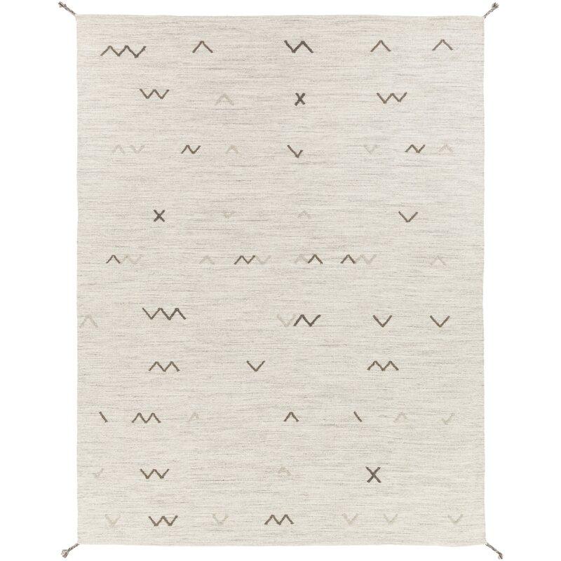 modern geometric flatweave rug