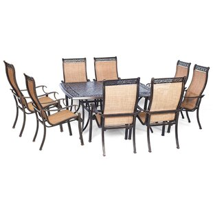 Darby Home Co Barras 9 Piece Contemporary Dining Set
