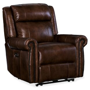 Esme Leather Power Recliner with Power Headrest Hooker Furniture