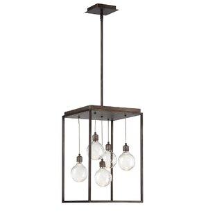 Gracie Oaks Fenagh 5-Light LED Square/Rectangle Pendant