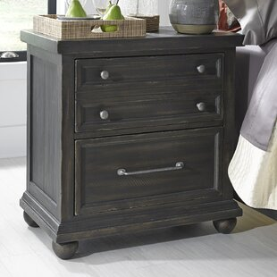 Gracie Oaks Vanegas 2 Drawer Nightstand