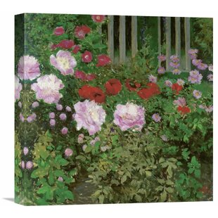 U0027Flowers And Garden Fenceu0027 By Koloman Moser Painting Print On Wrapped Canvas