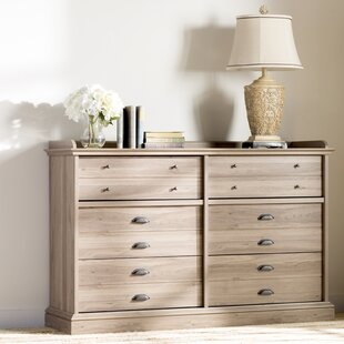 Bowerbank Chester 6 Drawer Double Dresser by Beachcrest Home Discount