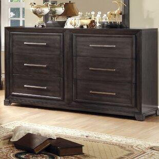 Ivy Bronx Bivins 6 Drawer Double Dresser