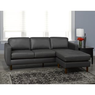 Twyla Leather Sectional by Brayden Studio